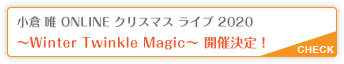 「Winter Twinkle Magic」開催決定!